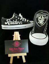 Custom Oakland RAIDERS men and women football sports  fan shoes!!!