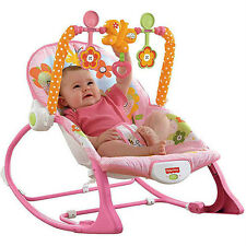 Brand New Fisher Price NEWBORN-TO-TODDLER PORTABLE ROCKER BUNNY Y4544