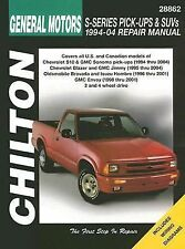 1994 - 2004 GMC Chevy S10 Sonoma Blazer Jimmy repair Manual 2003 2002 2001 6008