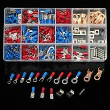 300Pcs Assorted Electrical Wiring Connectors Crimp Insulated Terminals Case Kit