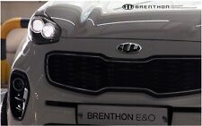 2G Brenthon Front Hood Rear Trunk Emblem Badge 1Set-2ea For 2017+ Kia Sportage R