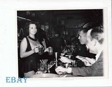 Champagne Cartier busty sexy VINTAGE Photo candid NYC 1966 stripper
