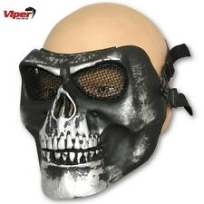 VIPER HARDSHELL FACE MASK AIRSOFT FANCY DRESS SKULL PAINTBALL PROTECTION