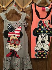 Minnie Mouse Dress And Tank Top Girl Size 6/6X New America
