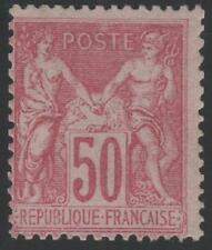 "FRANCE STAMP TIMBRE N° 104 "" SAGE 50c ROSE TYPE III "" NEUF xx TB"