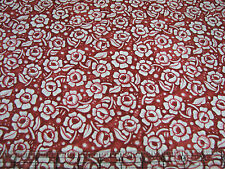 3 Yards Quilt Cotton Fabric - ITB Julie Paschkis Mooshka Rose Red