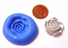 Reusable Rose Flower Silicone Mould Sugarcraft Jewellery Card Topper Food Safe S