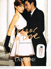 PUBLICITE ADVERTISING 065  2010  LANCOME  parfum TRESOR IN LOVE