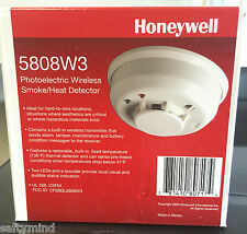Brand New Honeywell 5808W3 Photoelectric Wireless Smoke Heat Detector, Battery