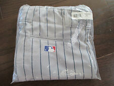 Majestic Team MLB Men's Baseball Pant Pants - Gray Blue Pinstripe - XL