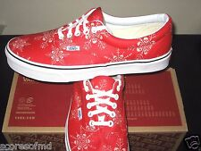 Vans Era Van Doren Skull Snowflake Racing Red Skate Shoes Size 9 VN0003Z5HWZ New