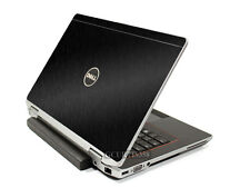 BLACK BRUSHED TEXTURED Vinyl Lid Skin fits Dell Latitude E6520 E6530 Laptop
