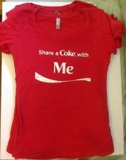Coca Cola Ladies Women's Large T-shirt Share A Coke With Me New Slim Fit Soft