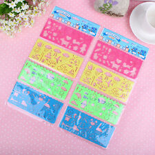 4pcs/set Korea stationery candy color ruler oppssed chiban drawing template Good