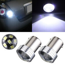 2x 1156 BA15S P21W 6 LED 2835 COB SMD Car Reverse Turn Tail Light Bulb White 12V