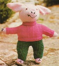 CUTE PIG / 8ply or DK  - toy knitting pattern