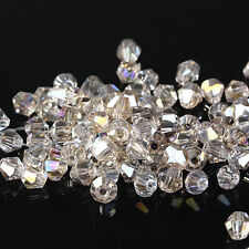 #5301 DIY jewelry 3mm Glass Crystal Bicone bead 1000pcs Silver Champagne AB