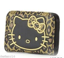 Loungefly Hello Kitty Face Leopard/Black/Gold  Wallet