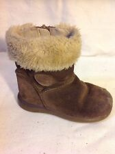 Girls Clarks Brown Suede Boots Size 6F
