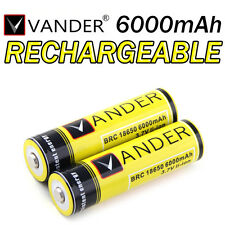 2 PILES BATTERIES RECHARGEABLE BRC 18650 3.7v 6000mAH QUALITÉ PRO BATTERY AKKU