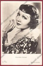 CLAUDETTE COLBERT 18 ATTRICE ACTRESS ACTRICE FRANCE CINEMA MOVIE Cartolina 1937