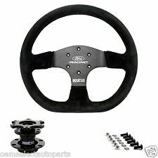 OEM NEW 2005-2014 Ford Racing Mustang Sparco Steering Wheel  w/ Installation Kit