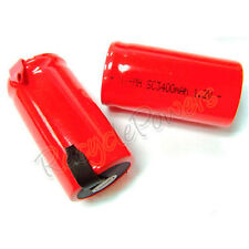14 Sub C SubC 3400mAh NiMh rechargeable Battery RED UK1