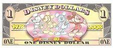 USA / Disney $1  1928/2008 Series  Prefix T Commemorative Uncirculated Banknote