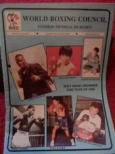 BOXING PROGRAMME - WBC MONTHLY 1990