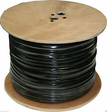 Solid Copper Core RG-59/U Siamese Cable 1000FT  Black Color