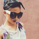 Oversized Round Cat Eye Wolves and Foxes Style Women Sunglasses Vintage