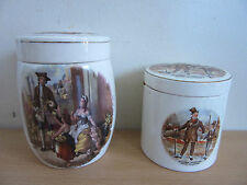 Pair of Antique Sandland Ware Staffordshire England Jars