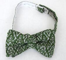 NEW Authentic BOTTEGA VENETA Silk/Cotton Bow Tie Green 260519 3277