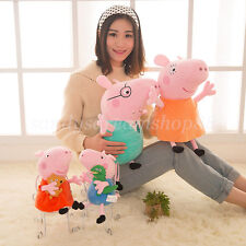4PCS 11'' George Peppa Pig Family 14'' Daddy Mummy Plush Stuffed Toy Kids Gifts