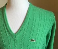 Women's Vintage Izod Lacoste Green Sweater Size L Womens Alligator Orion Acrylic