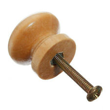 10pcs 25mm Natural Wood Wooden Cabinet Knob Drawer Wardrobe Door Pull Handle LW