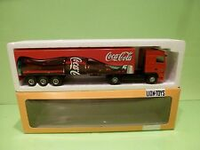 LION CAR DAF 95XF TRUCK + TRAILER - COCA COLA - RED 1:50 - GOOD IN BOX