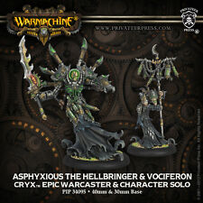 Warmachine Cryx Asphyxious the Hellbringer & Vociferon blister pip 34095 new
