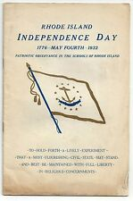 Rhode Island Independence Day. May 4, 1932. Patriotic Observance in school of RI