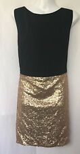 BNWT Black & Gold KELLY BROOK for NEW LOOK Dress With Sequins Size 18 RRP £44.99