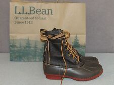 "NEW LL BEAN 8"" Bison Leather Bean Boots Winter Snow Women's Size 8 M"