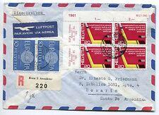LETTRE BERN SUISSE / ROSARIO ARGENTINE RECOMMANDE PAR AVION 61 TRANSIT POSTFACH