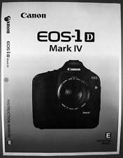 Canon EOS 1D Mark IV Digital Camera User Instruction Guide  Manual