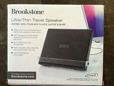 New Ultra Thin Travel Speaker Brookstone Brand Flat Panel
