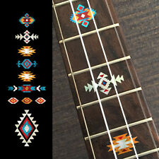 Native American Style Ethnic Fret Markers Inlay Sticker For Ukulele (turquoise)