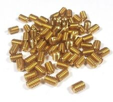 "~~ 12 New Brass Set Screws 1/4"" Coarse Thread 20 Door Knob HTF Antique Doorknob"