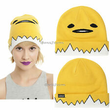 Gudetama Peeking Out of EggShell Watchman Knit Egg Beanie Hat Ski Cap sanrio