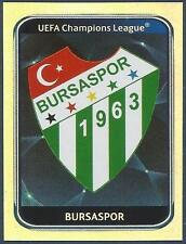 PANINI UEFA CHAMPIONS LEAGUE 2010-11- #192-BURSASPOR TEAM BADGE-SILVER FOIL