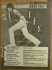 Bay City Rollers, Les McKeown, Full Page Vintage Clipping