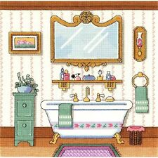 "Janlynn Counted Cross Stitch Kit 10"" x 10"" ~ VICTORIAN BATH #006-0100 Sale"